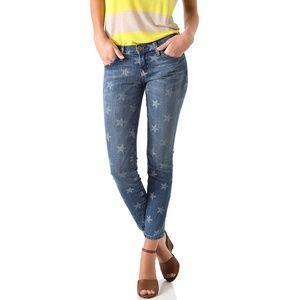 Current Elliott The Stiletto star print jeans